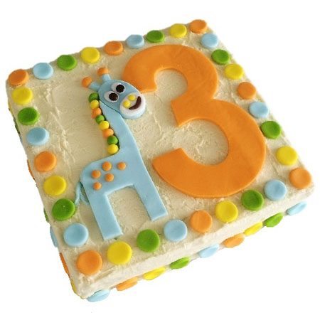 number giraffee first birthday cake DIY kit from Cake 2 The Rescue