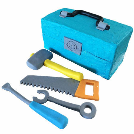 tool box construction birthday cake DIY cake kit from Cake 2 The Rescue