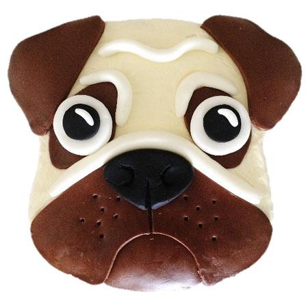 Pug dog birthday cake DIY kit from Cake 2 The Rescue
