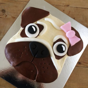 Pug dog girl birthday DIY cake kit from Cake 2 The Rescue