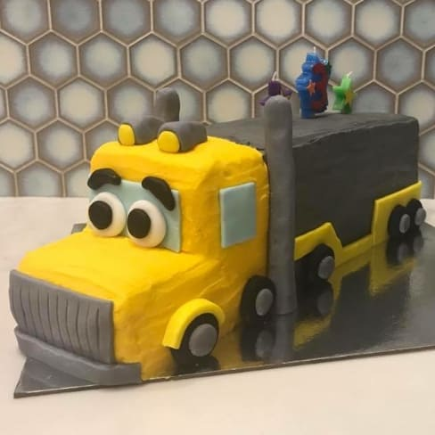 Swell Diy Truck Birthday Cake Kit Cake 2 The Rescue Funny Birthday Cards Online Alyptdamsfinfo