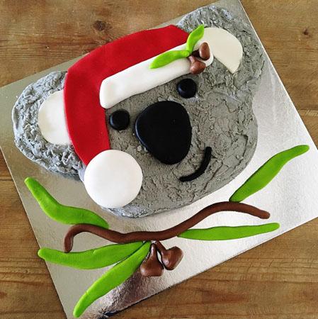 Aussie Christmas Koala cake kit from Cake 2 The Rescue