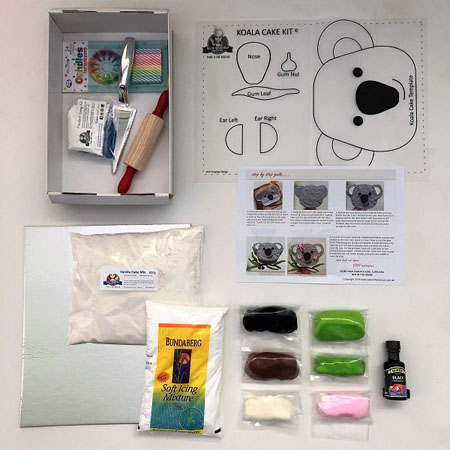 easy Koala cake kit contents from Cake 2 The Rescue