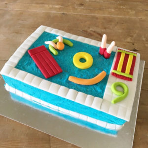 Pool party 18th, 21st birthday DIY cake kit from Cake 2 The Rescue