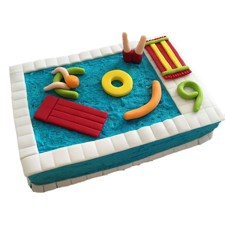 Pool party birthday cake DIY kit from Cake 2 The Rescue