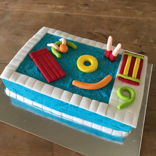 Pool Party Cake Kit-Birthday Cake Kit-Swimming Pool Cake
