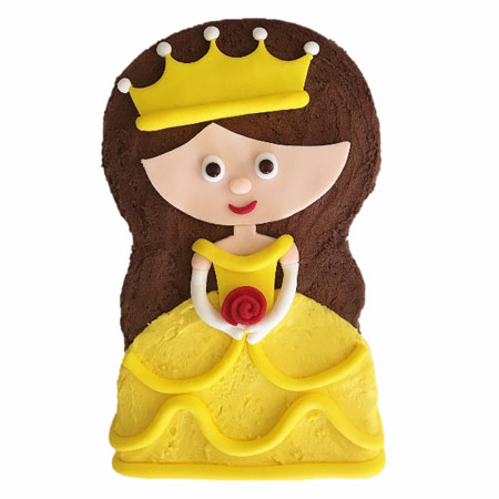 little yellow princess first birthday cake DIY kit from Cake 2 The Rescue
