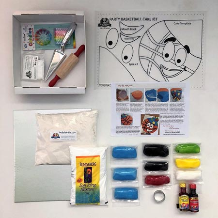 basketball sport themed birthday party DIY cake kit contents from Cake 2 The Rescue