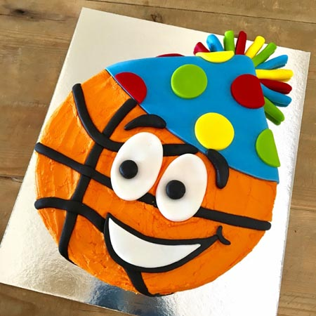 easy basketball sport end of season celebrations DIY cake kit from Cake 2 The Rescue