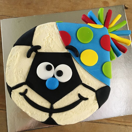 party soccer ball birthday cake kit from Cake 2 The Rescue