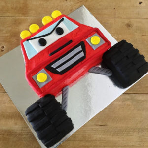 Monster truck and Blaze kids birthday from Cake 2 The Rescue