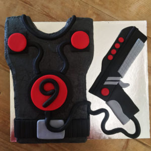 Laser Skirmish birthday cake kit from Cake 2 The Rescue