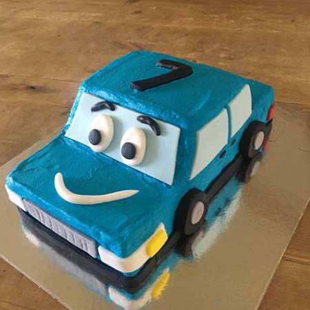 car and transport birthday cake DIY cake kit from Cake 2 The Rescue