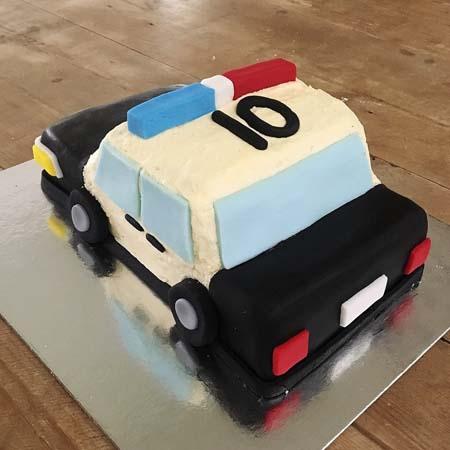police car birthday boy cake DIY cake kit from Cake 2 The Rescue