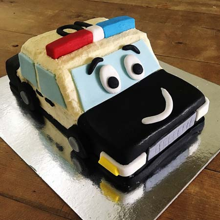 police car cops and robbers themed birthday party DIY cake kit from Cake 2 The Rescue