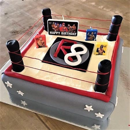 wrestling ring boys birthday cake idea diy cake kit from Cake 2 The Rescue