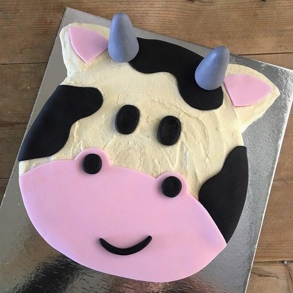 Cow Cake Kit Birthday Cake Recipe Kit Diy Decorating Kit