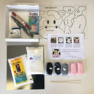 Easy cow cake kit contents from Cake 2 The Rescue