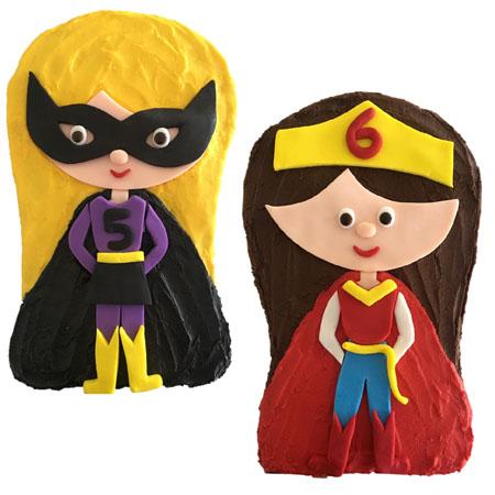 Superhero girl kids birthday cake DIY kit from Cake 2 The Rescue
