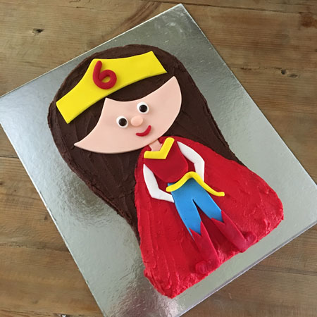 Superhero Wonderwoman birthday cake kit from Cake 2 The Rescue