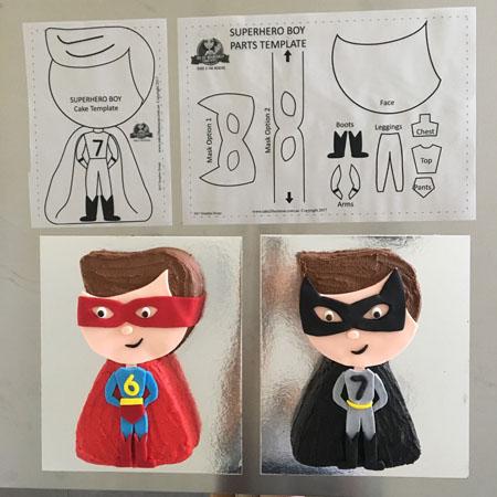 Superman batman birthday DIY cake kit from Cake 2 The Rescue
