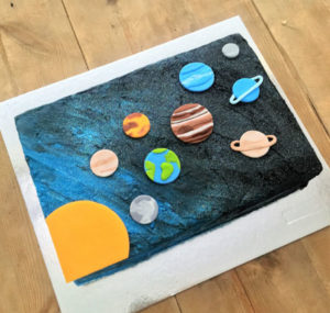 Solar system kids birthday cake kit from Cake 2 The Rescue