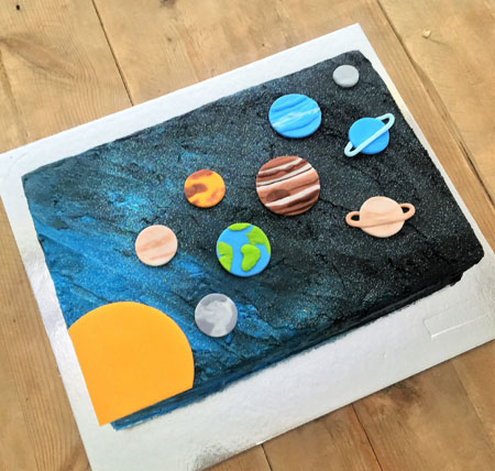 Solar system kids birthday cake kit from Cake 2 The Rescue