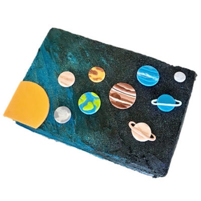 Solar system outer space cake DIY kit from Cake 2 The Rescue
