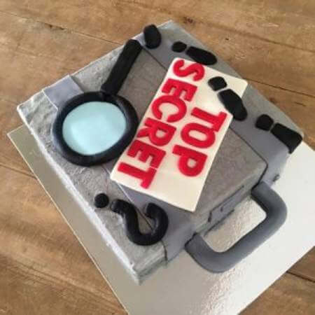 Stupendous Spy Birthday Cake Kit Spy Party Secret Agent Mystery Birthday Cards Printable Giouspongecafe Filternl