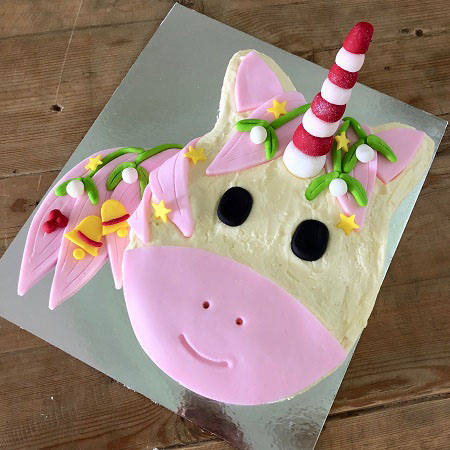 Christmas Unicorn cake DIY kit from Cake 2 The Rescue with pink mane