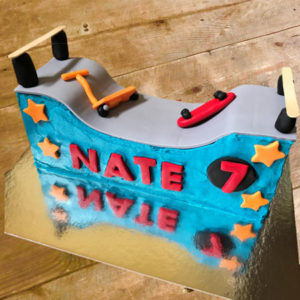 Scooter skate park birthday cake kit from Cake 2 The Rescue