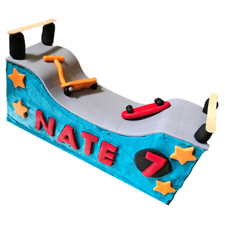 Scooter Skate Park Birthday Teen Cake DIY Kit from Cake 2 The Rescue