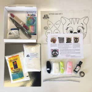 Easy kitten cake kit contents from Cake 2 The Rescue