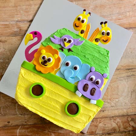 Noah's Ark Naming Day DIY cake kit from Cake 2 The Rescue