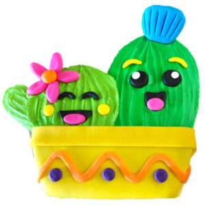 Cactus birthday cake DIY kit from Cake 2 The Rescue