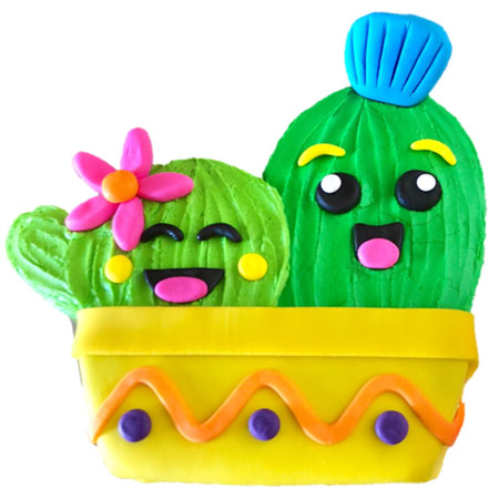 cactus twins baby shower cake DIY kit from Cake 2 The Rescue