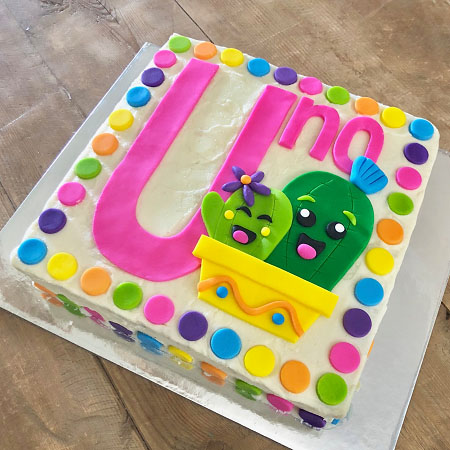 number cactus uno birthday cake DIY kit from Cake 2 The Rescue