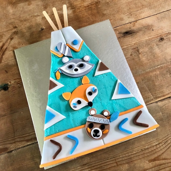 Teepee Birthday Cake Wild One