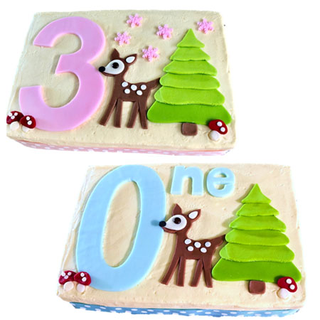 first birthday little deer cake DIY kit from Cake 2 The Rescue