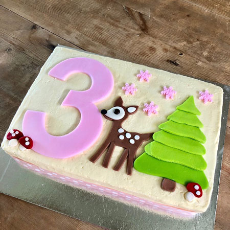 first birthday woodland little deer pink cake DIY kit from Cake 2 The Rescue