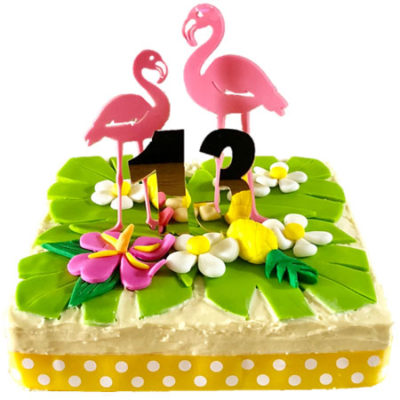 flamingo first birthday cake DIY kit from Cake 2 The Rescue