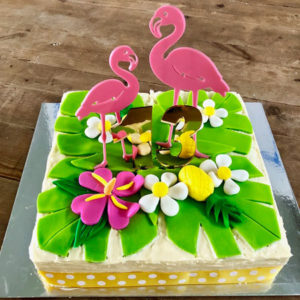 Flamingo teens, 18th or 21st birthday cake kit from Cake 2 The Rescue