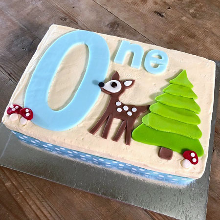 Wondrous First Birthday Little Deer Diy Cake Kit Cake 2 The Rescue Birthday Cards Printable Inklcafe Filternl