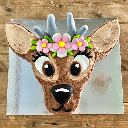 Astounding Diy Deer 1St Birthday Cake Kit Easy And Cute Cake 2 The Rescue Birthday Cards Printable Inklcafe Filternl