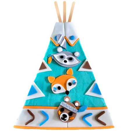 wild one tepee baby shower cake DI kit from Cake 2 The Rescue