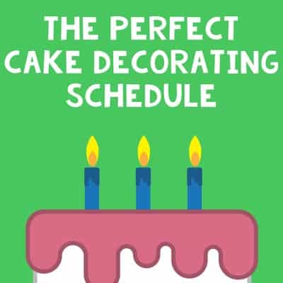 Tips for the perfect cake baking schedule