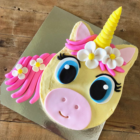 baby shower flower unicorn pink cake DIY kit from Cake 2 The Rescue
