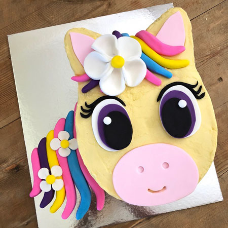 birthday flower pony pink and purple unicorn DIY cake kit from Cake 2 The Rescue