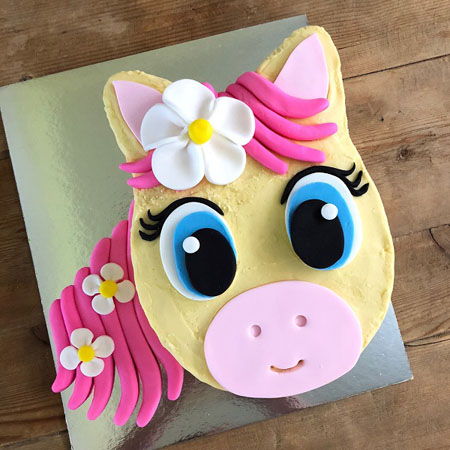 cowgirl pink pony birthday DIY cake kit from Cake 2 The Rescue