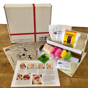 Llama birthday cake kit contents from Cake 2 The Rescue